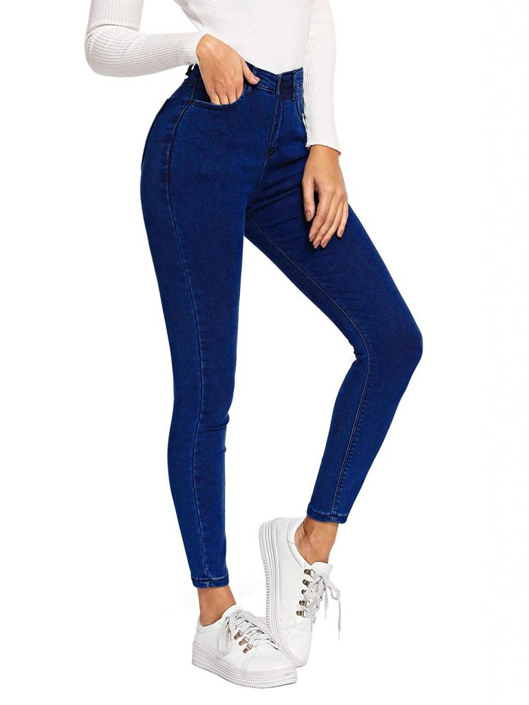 royal blue denim jeans pant for school student girls