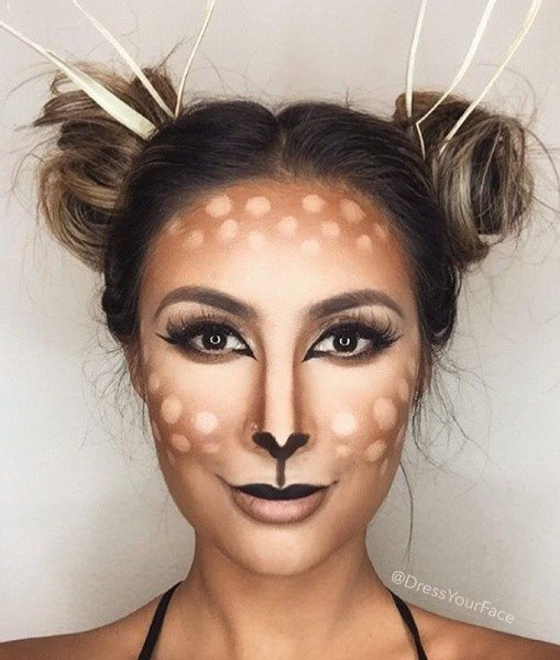 Deer Inspired Halloween Makeup