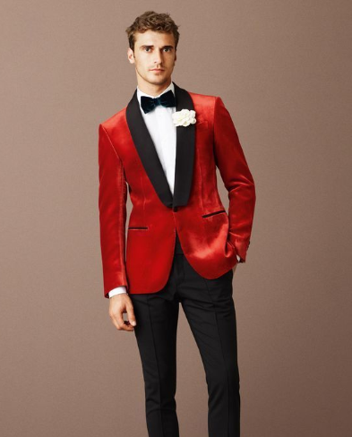 Velvet Tuxedo wedding suits for groom