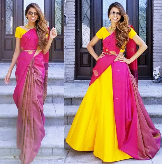 Voluminous Saree Style Drape