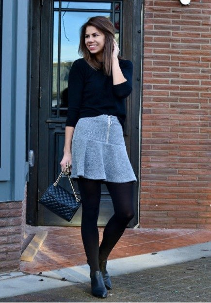 Mini Skirts to wear in winter
