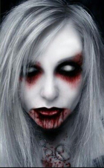 Inner darkness halloween makeup ideaInner darkness halloween makeup idea