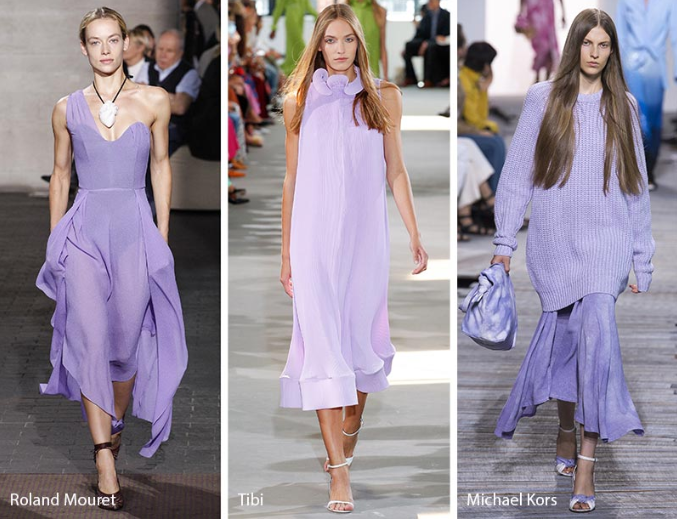 Lavender Color Trend in fashion Spring-Winter 2018