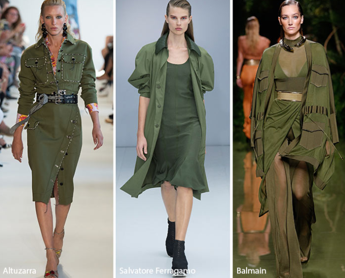 Military green Fashion Clothing Color trends