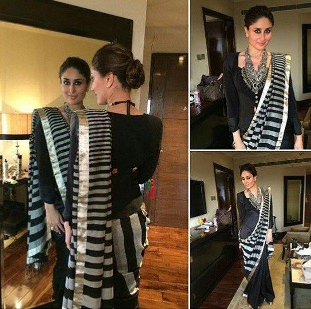 Tunic Style Saree Drape