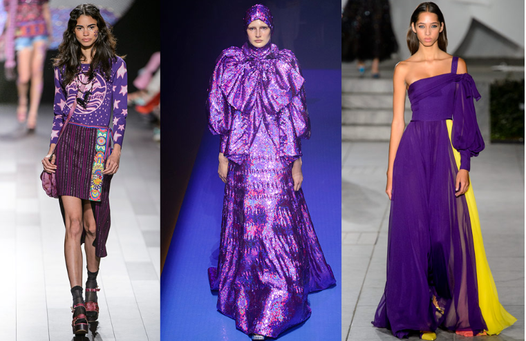 Purple Color in fashion trends of Spring-Winter 2018
