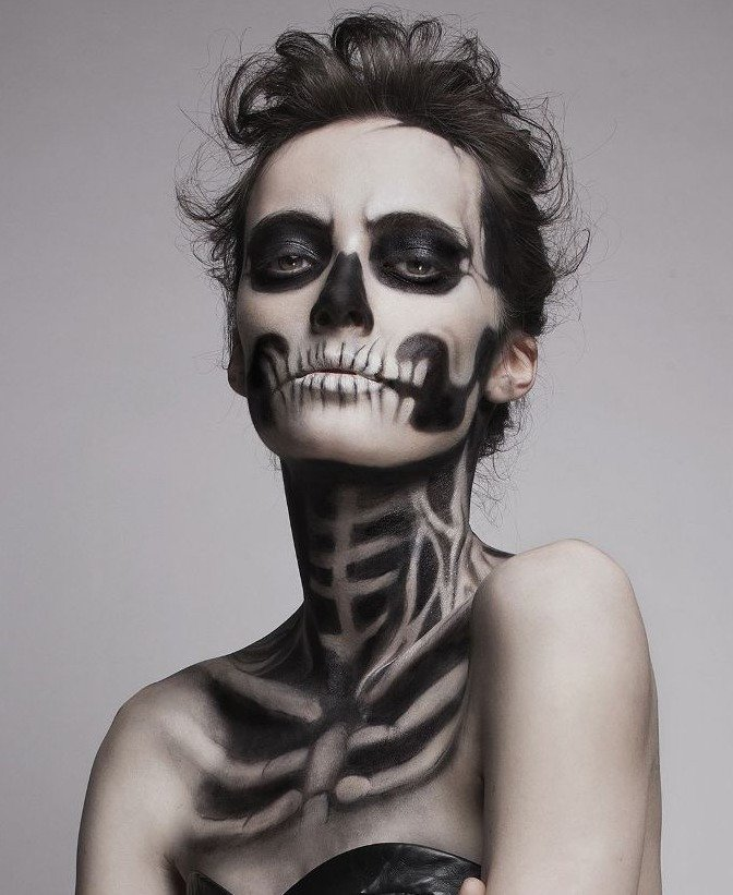 Dead Skeleton Makeup Look