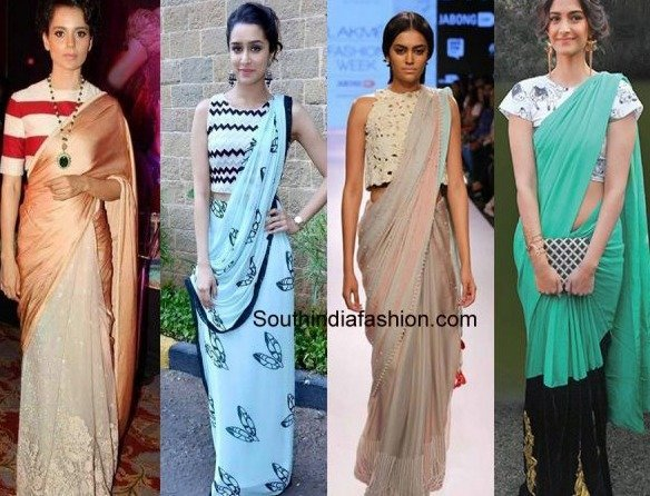 32c374af656 27 Modern Saree Draping Styles Ideas for a ChicLook