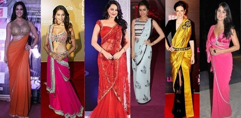 df62f2dde4 27 Modern Saree Draping Styles Ideas for a ChicLook