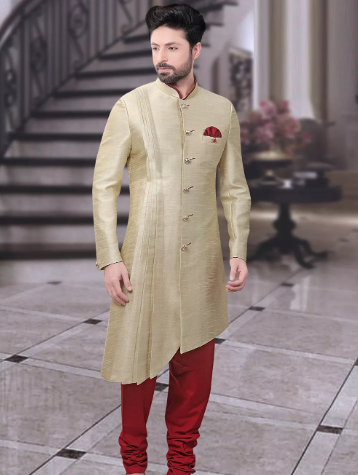 Asymmetric Sherwani for wedding