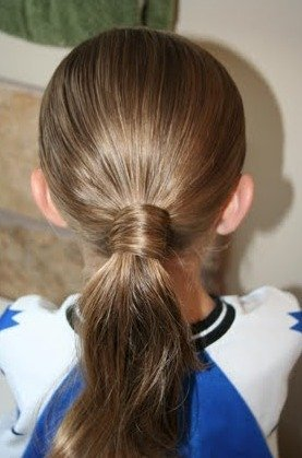 Hair-Wrapped Ponytail
