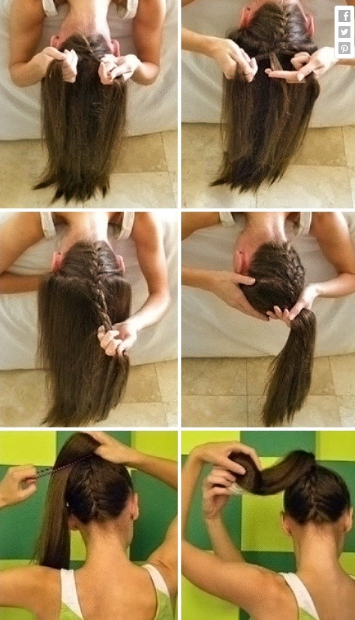 Steps to do Upside-Down French Braid