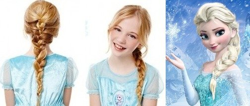 Elsa braid on girls