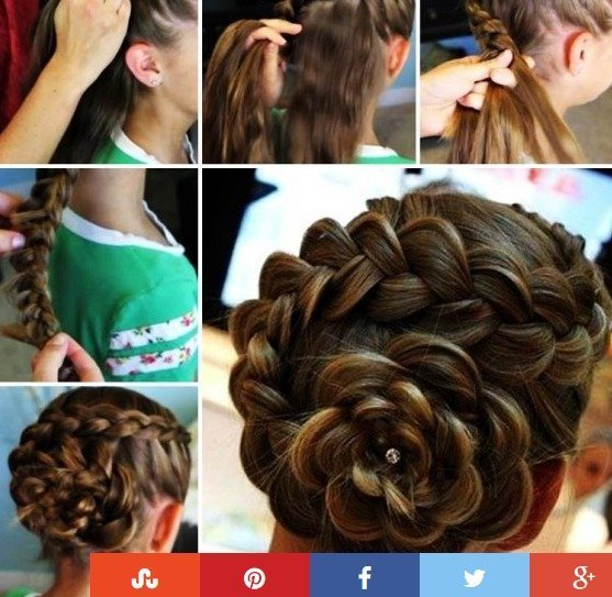 Steps to do rose updo