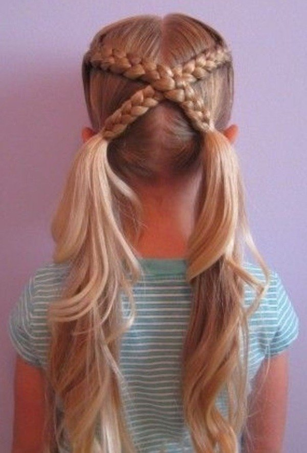 Crisscross Braid Pigtails