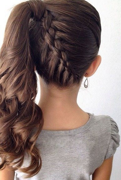 Upside-Down French Braid