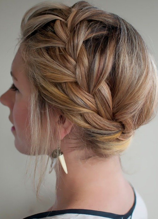 Loose French Braid Head Crown