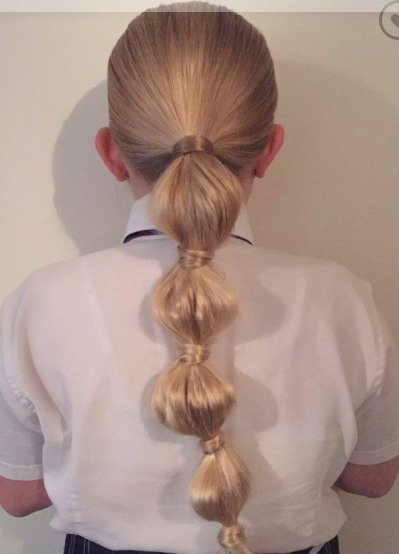 Bubble Braid on girls
