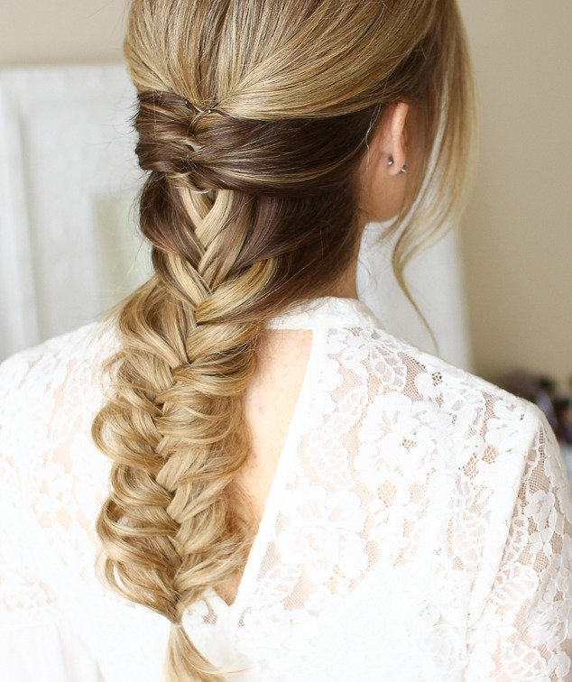 Topsy Tails into Fishtail braid