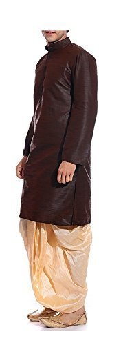 Kurta with red dhoti for wedding