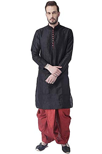 multi color kurta with dhoti ethnic wear for men