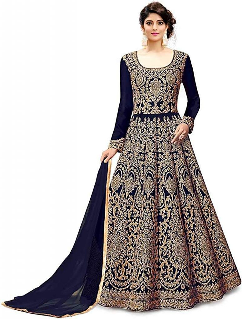 Anarkali dress for navratri pooja