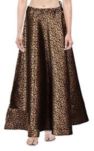 Brocade skirts for durga pooja