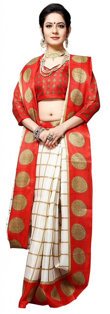 Durga Puja Special Saree with Blouse