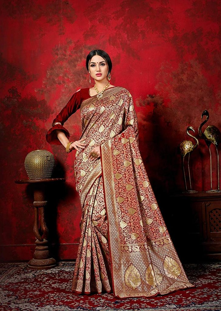 saree for durga puja from amazon