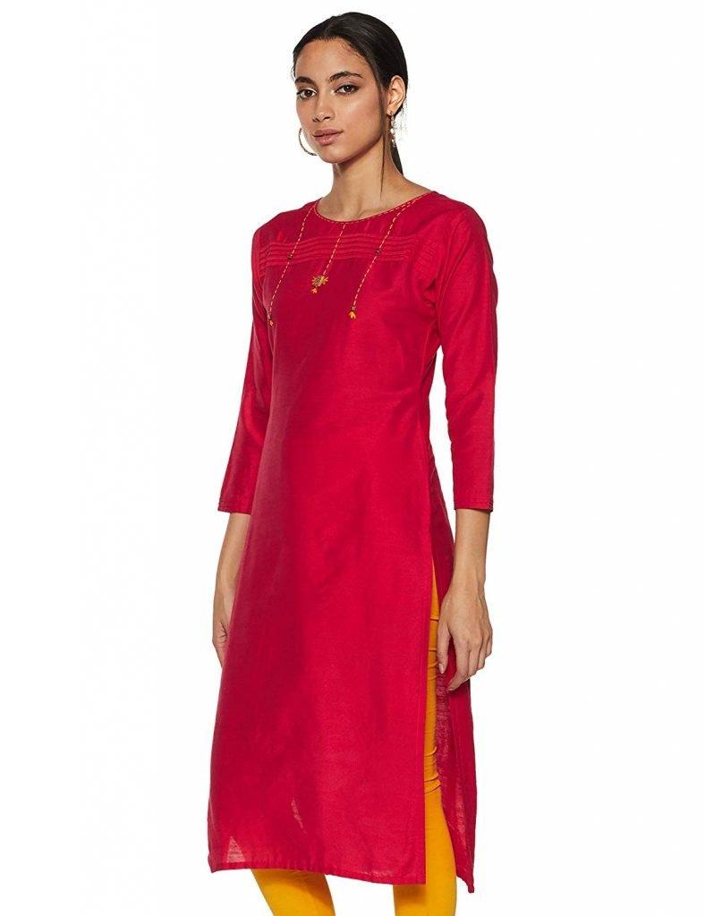 cotton straight kurta for women