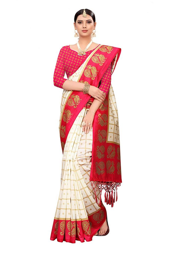 designer silk saree collection dress for durga puja