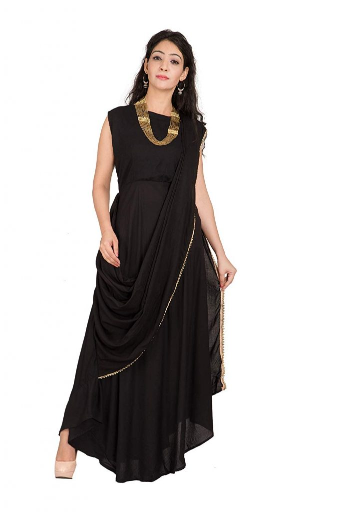 saree gown dress for women on amazon