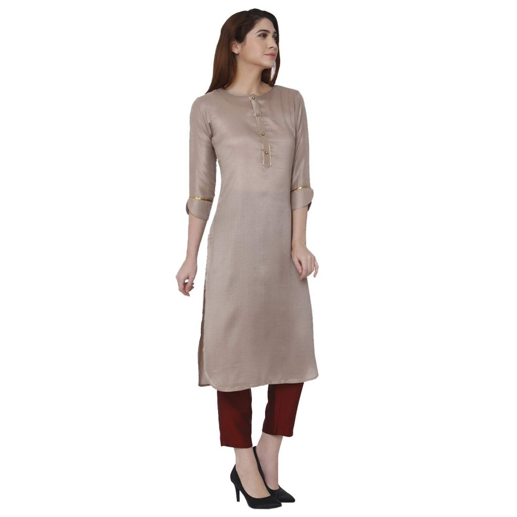 straight kurta with pant on amazon