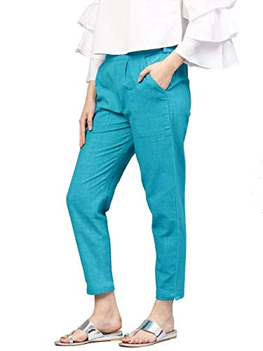 Women's Regular Fit Plazo Pants Trousers